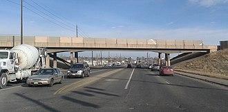Colorado State Highway 95 - I-76 bridge over SH 95 in Adams