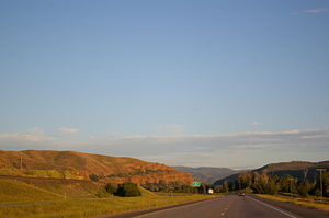 Interstate 84 (Oregon–Utah) - The eastern terminus of I-84 in Echo, Utah