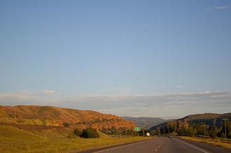 Interstate 84 in Utah - I-84 approaching its eastern terminus