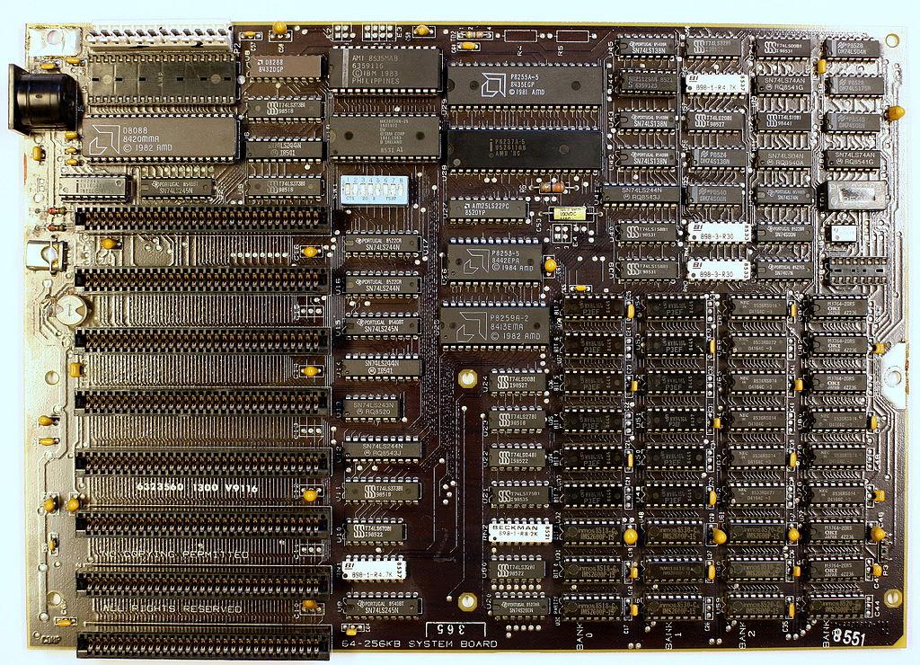 file ibm xt 5160 motherboard jpg wikimedia commons
