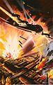 INF3-1601 Bombers lit by glare of burning factories Artist W Krogman (20869996735).jpg