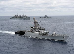 INS Kulish (P63) is underway with U.S. and Indian navy ships during Exercise Malabar 2012.jpg