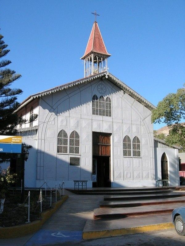 The Iglesia de Santa Bárbara, designed by Gustave Eiffel