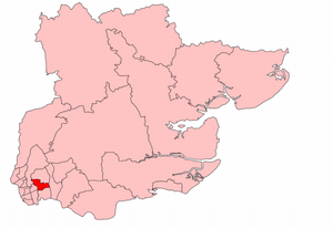 Ilford South (UK Parliament constituency) - Ilford South in Essex, showing boundaries used from 1945 to 1950.