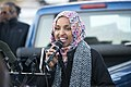 Ilhan Omar speaking at worker protest against Amazon (45406484475).jpg