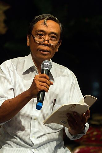 Iman Budhi Santosa - Santosa at the launch of his book Sesanti Tedhak Siti, 2015