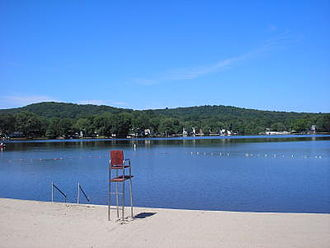 """Indian Lake (New Jersey) - The """"Big Beach"""" or the Main Beach          (Summer 2006)"""