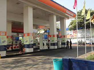 Indian Oil Corporation - A typical IOCL petrol pump in suburban India - Chembur, Mumbai