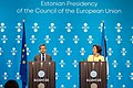 Informal meeting of ministers responsible for competitiveness (research, iCOMPET). Press conference Carlos Moedas and Mailis Reps (35349989433).jpg