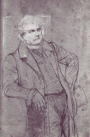 Portrait of Monsieur Bertin - Ingres, 1832 study on black charcoal and graphite on paper. Musée Ingres, Montauban