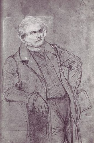 Portrait of Monsieur Bertin - Ingres, 1832 study on black charcoal and graphite on paper. Musée Ingres, Montauban