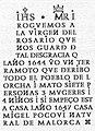 Inscripción de la placa conmemorativa del terremoto de 1644 Lorcha-l´Orxa (Alicante) Vall de Perputxent.jpg