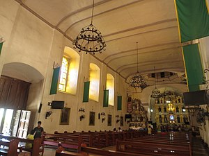 Tanay Church - Image: Inside the San Ildefonso Church