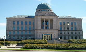 The Iowa Supreme Court, across from the capitol, is the state's highest court. Iowa Supreme Court.jpg