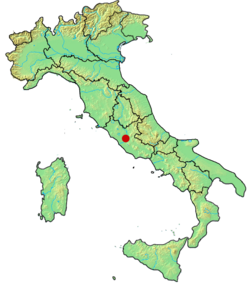 Location of the city of Rome