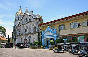 Abucay Church - Facade of the Saint Dominic Parish Church in Abucay, Bataan