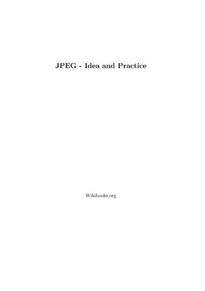 File:JPEG - Idea and Practice.pdf