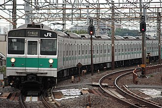 203 series - 203 series train at Kanamachi Station, 31 July 2009