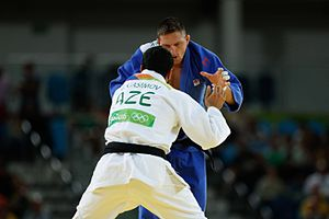 Judo at the 2016 Summer Olympics – Men's 100 kg - Image: JUDOCA TCHECO LUKAS KRPALEK LEVA OURO NA CATEGORIA ATÉ 100 KG NA RIO 2016 (28303516044)