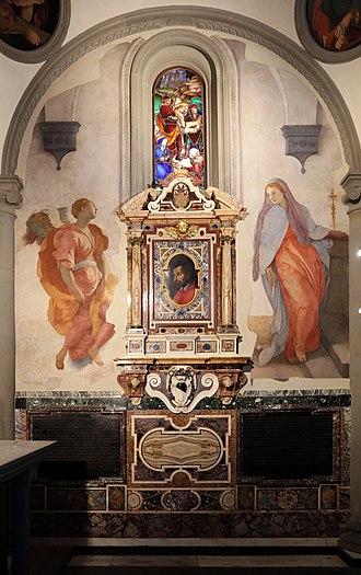 Annunciation (Pontormo) - Image: Jacopo pontormo, annunciazione, 1527 28, 01