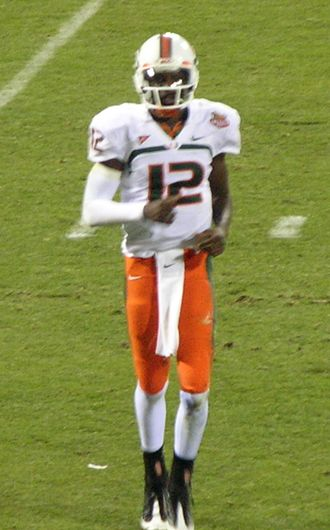 Jacory Harris - Harris with the Hurricanes at the 2008 Emerald Bowl.