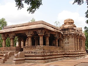 The Jain temple (called Jain Narayana) at Hampi