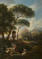 Jan Frans van Bloemen (1662-1749) - A Classical Landscape with an Urn, Shepherds and Goats - 266914 - National Trust.jpg