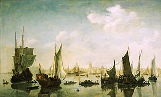 A View of the River Maas Before Rotterdam