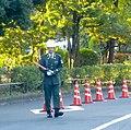 Japanese MP soldier in uniform - near budokan - nov 15 2015.jpg