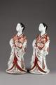 Japanska figurer från cirka 1800, föreställande hovdamer - Hallwylska museet - 96053.tif