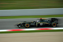 Photo de la Lotus T127 de Trulli en Espagne