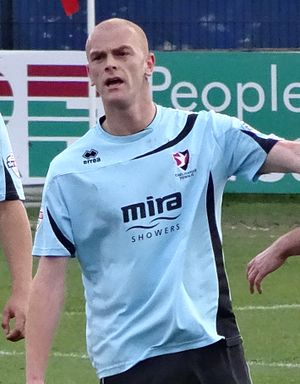 Jason Taylor (English footballer) - Taylor playing for Cheltenham Town in 2014