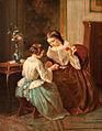 Jean-Baptiste Jules Trayer Zwei Mädchen beim Wollwinden.jpg
