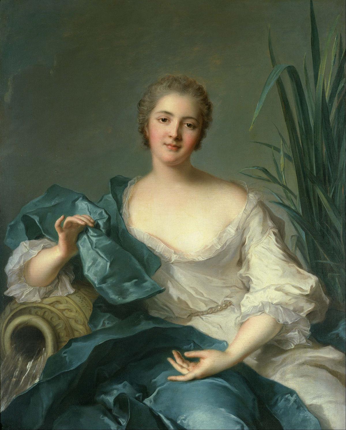 Jean-Marc Nattier Portrait of Madame Marie-Henriette Berthelot de  Pléneuf