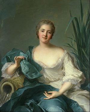 Jean-Marc Nattier -  Jean-Marc Nattier - Portrait of Madame Marie-Henriette Berthelot de Pléneuf
