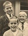 Jeb, Marvin and Neil Bush Fall 1961.jpg