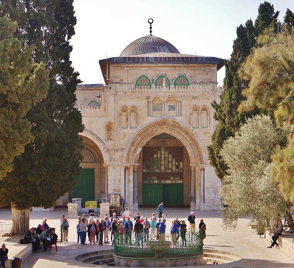 Jerusalem Tempelberg Al-Aqsa-Moschee Fassade 2