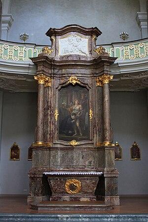Lambert Krahe - Painting in the Jesuit Church, Mannheim