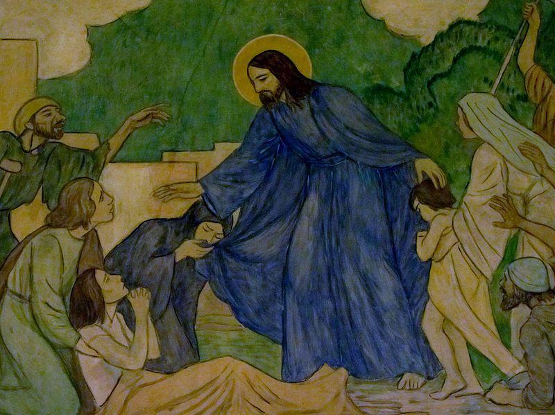 File:Jesus sana a los enfermos -ig Nstra Sra Angeles 2der fRF2.2.jpg