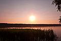 Jezioro Piaseczno o zachodzie słońca.jpg