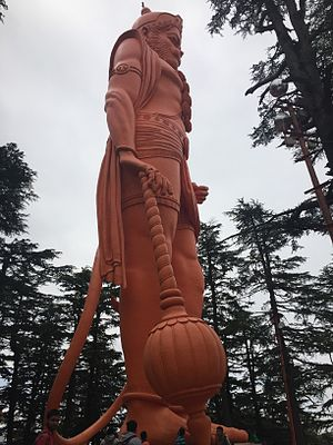 Jakhoo - World's tallest statue of Lord Hanuman at Shimla Jhakoo Temple