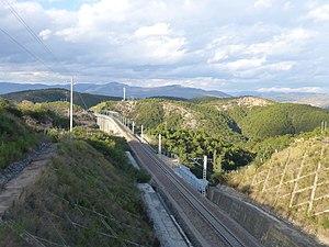 Yuxi–Mengzi Railway - A railway section in Jianshui County, north of Lihaozhai