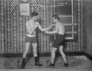 Jim Driscoll - Driscoll (left) posing with fellow boxer Eddie Johnson