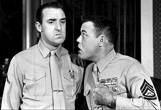 Gomer Pyle, U.S.M.C. - Gomer Pyle (Jim Nabors, left) and Gunnery Sergeant Vince Carter (Frank Sutton, right)