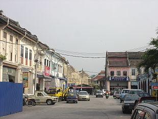 The town centre of Gopeng