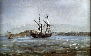 A Steamer near Fredriksvern