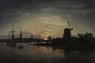 Swinoujscie in the moonlight