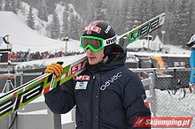 Johan Remen Evensen Oslo 2011 (qualification round, normal hill).jpg