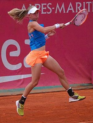 Johanna Larsson - Johanna Larsson at the 2014 Open GDF Suez de Cagnes-sur-Mer Alpes-Maritimes.
