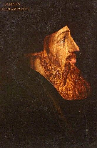 Johannes Oecolampadius - Johannes Œcolampadius by Hans Asper